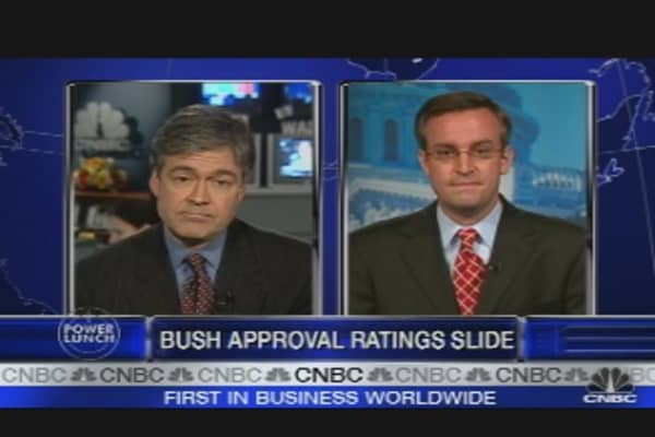Bush Approval Ratings Slide
