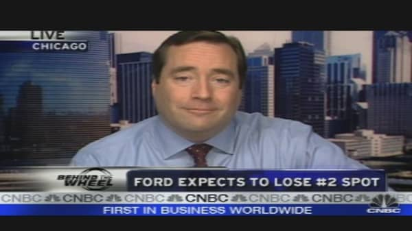 Ford Expects to Lose #2 Spot