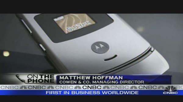 Motorola Trading Lower
