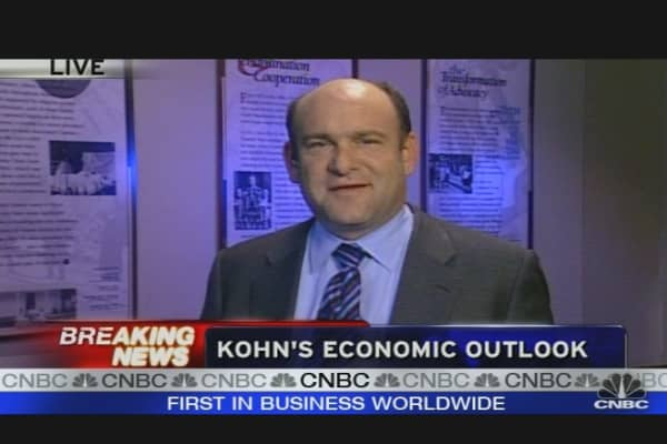 Kohn's Economic Outlook