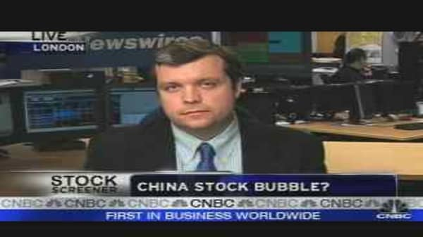 Bubble Stocks in China?