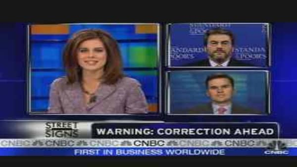 Stock Correction Looming?