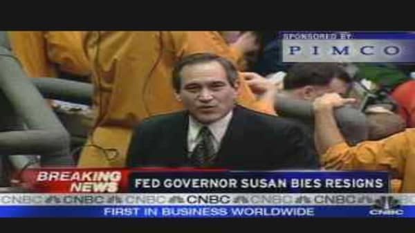 Fed Governor Bies Resigns