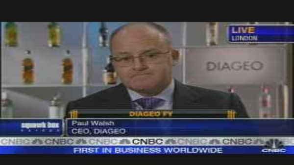 Diageo Earnings Rise