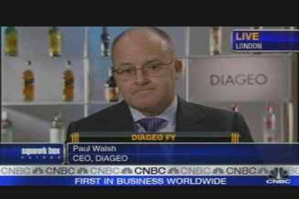 Diageo Earnings Rise