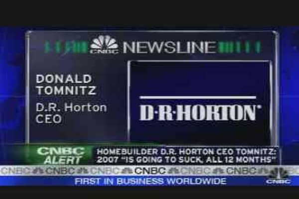 DR Horton CEO Speaks