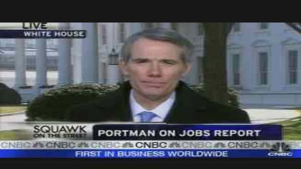 Portman on Jobs Report