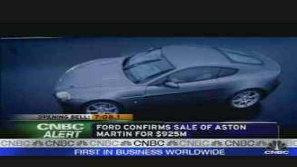 Ford Sells Aston Martin