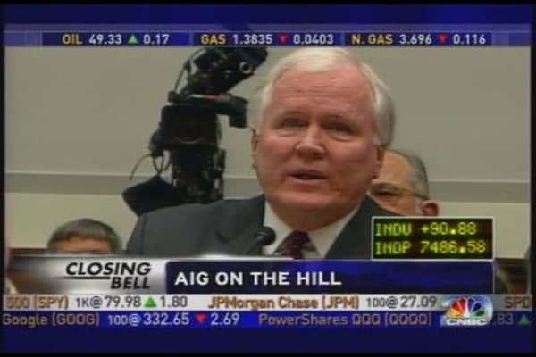 AIG CEO Scorned