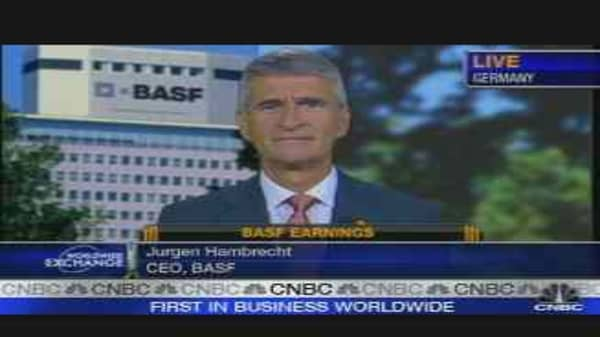 BASF CEO on Earnings