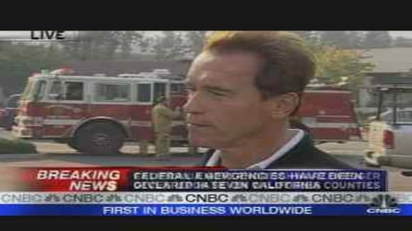 Schwarzenegger on Fires