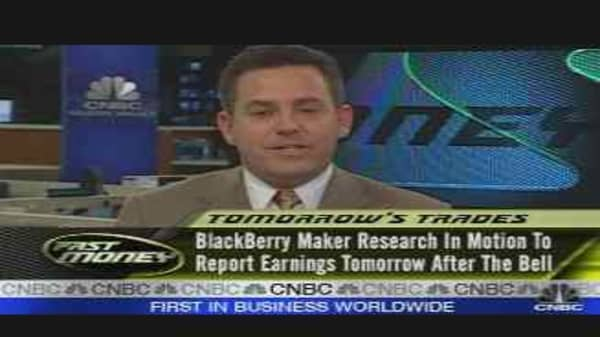 Tomorrow's Trades #1: RIMM