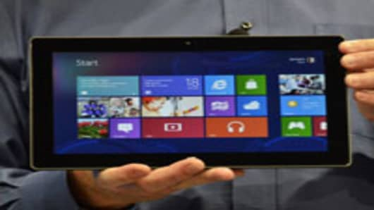 Microsoft's Executive Officer Steve Ballmer introduces Microsoft's new tablet SURFACE