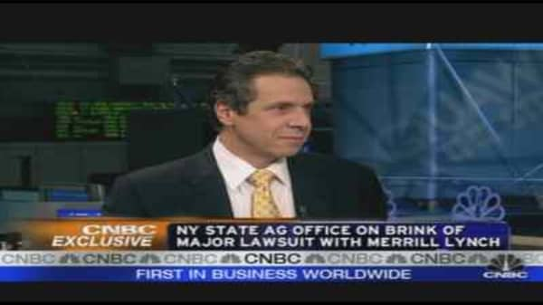 AG Cuomo on Auction Rate Probe