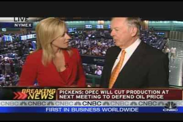 Boone Pickens at the NYMEX