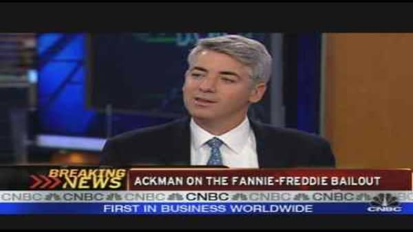 Ackman on the GSE Bailout