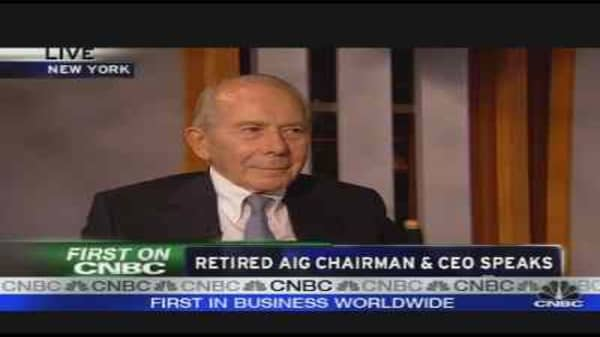 Retired AIG Chairman Speaks
