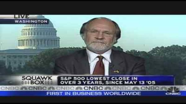 Corzine on the Manic Markets