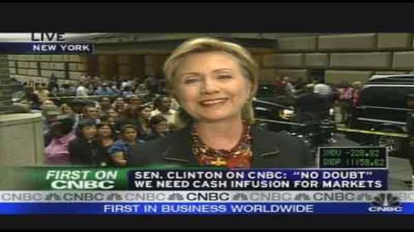 Hillary Clinton on Fed Action