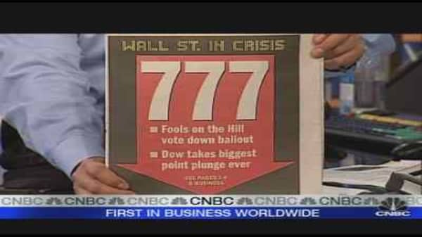 Dow's Record Drop
