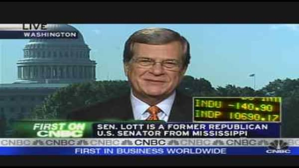 Lott on the Bailout Plan
