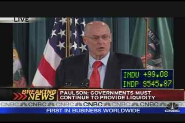 Paulson on Global Rate Cut