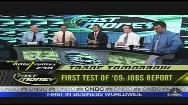 First Test Of '09: Jobs
