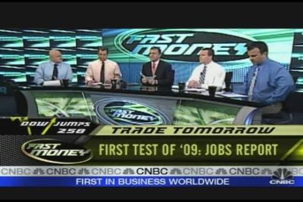 First Test Of '09: Jobs