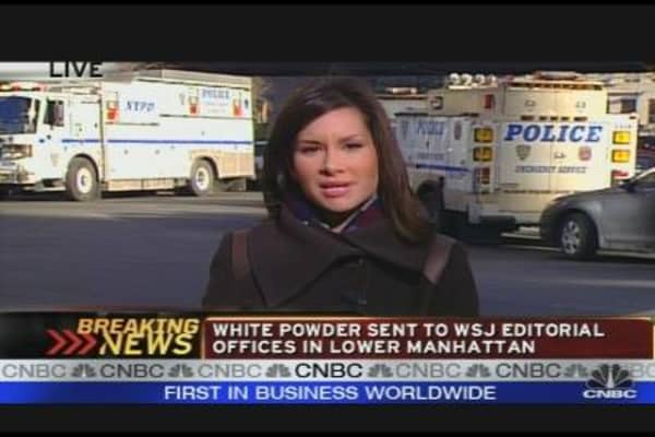 WSJ's NY Offices Sent Unidentified White Powder
