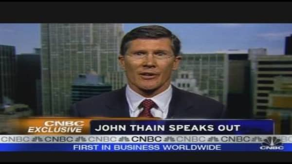 John Thain Speaks Out