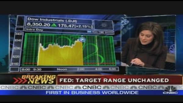Fed: Target Rate Unchanged