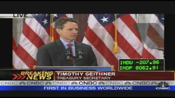 Treasury Secretary Geithner's Plan