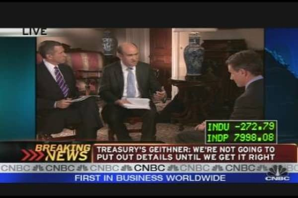 Treasury's Geithner on the Financial System
