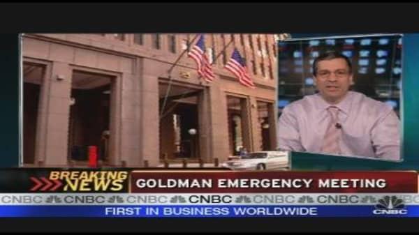 Goldman Emergency Meeting