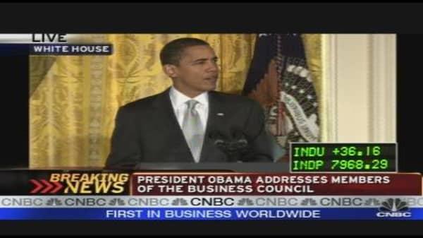 President Obama Addresses Business Council