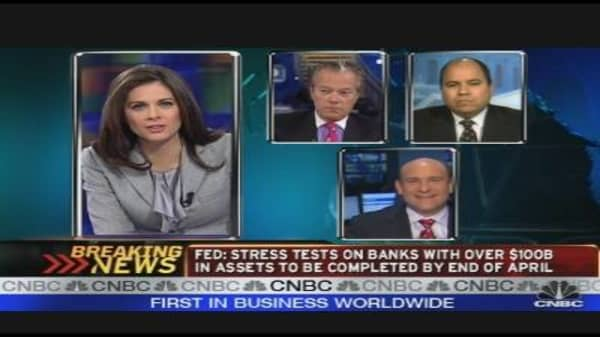 Fed: Bank Stress Tests to Be Completed by April
