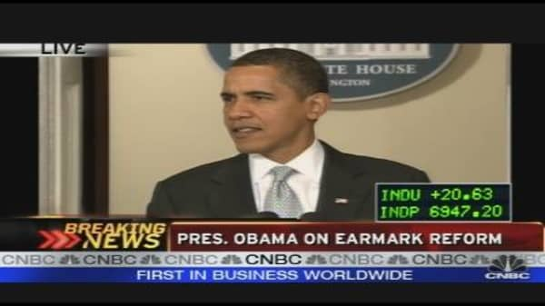 President Obama on Earmark Reform