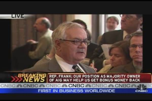 Barney Frank Comments on AIG