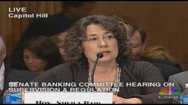 Bank Regulation Hearing: Sheila Bair Statement