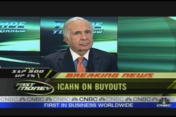 Icahn Talks Buyouts