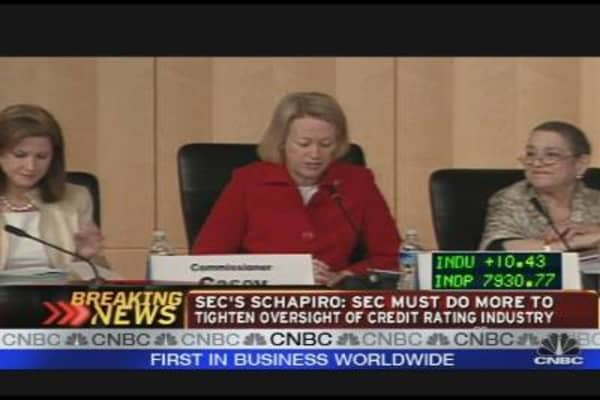 SEC's Schapiro: More Needs to Be Done