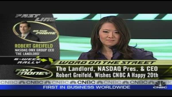 Greifeld Congratulates CNBC