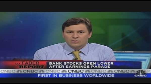 Bank Stocks Open Lower