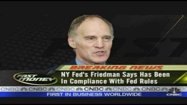 NY Fed's Friedman Resigns