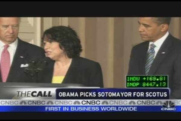 Obama Picks Sotomayor for SCOTUS