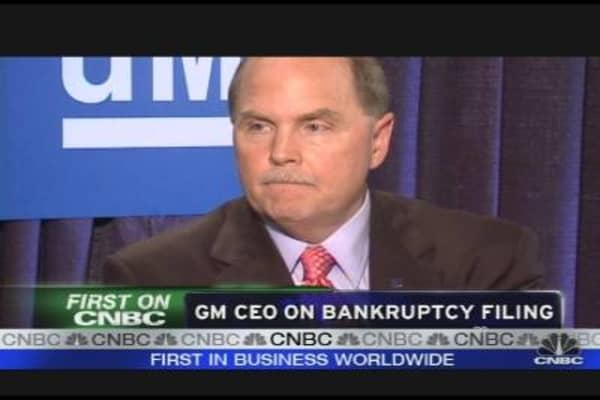 GM CEO Discusses Bankruptcy