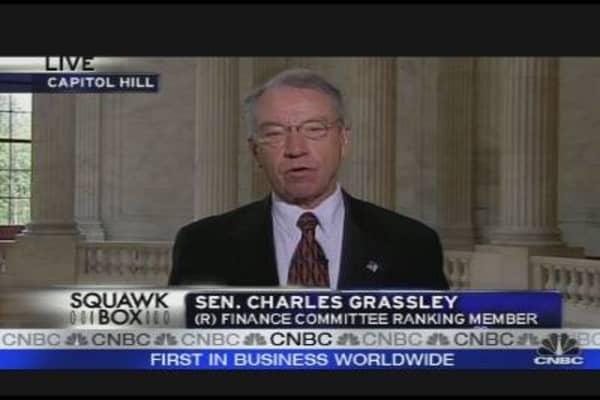 Grassley on Financial Regulation Overhaul