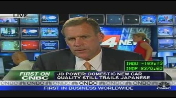 J.D. Power: Car Quality