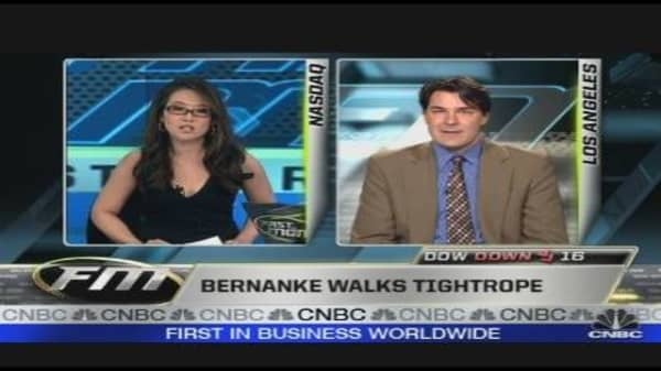 Bernanke Walks Tightrope