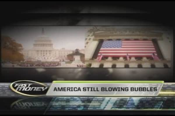 America Blowing Bubbles